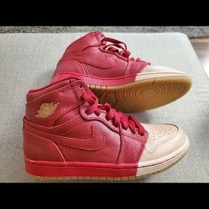 Dip-Red toe Jordan 1 -DS